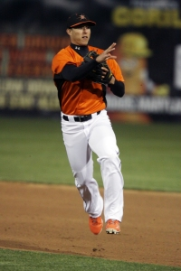 Pena's two-homer game was the first of his professional career.
