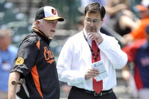 The architects of the 2014 Orioles. Tuesday's honor marks the second honor for Duquette and the third for Showalter.
