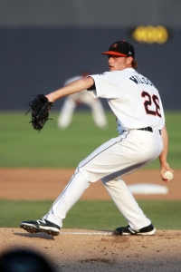 Tyler Wilson posted a 3.67 ERA between Double-A and Triple-A last season and was the organization's Pitcher of the Year.