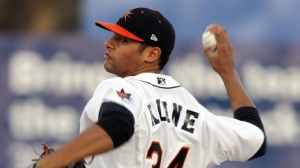 RHP Branden Kline left his start on Wednesday with Double-A Bowie after just 20 pitches.