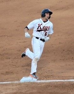 Tucker Nathans finished the night 3-for-4  with a home run, an RBI and three runs scored.